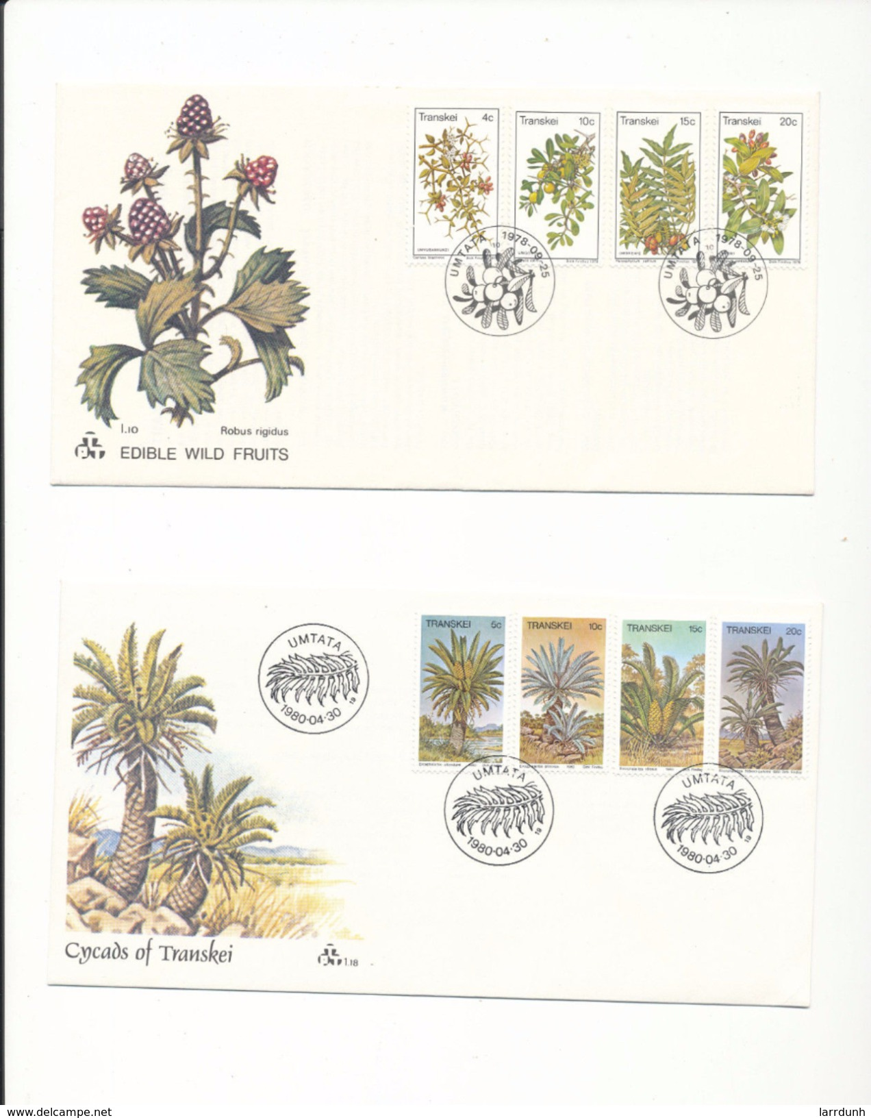 South Africa Transkei 28-31 Edible Fruit 75-78 Cycads Flowers Flora Day Of Issue Cancel 1978-1980 A04s - Transkei