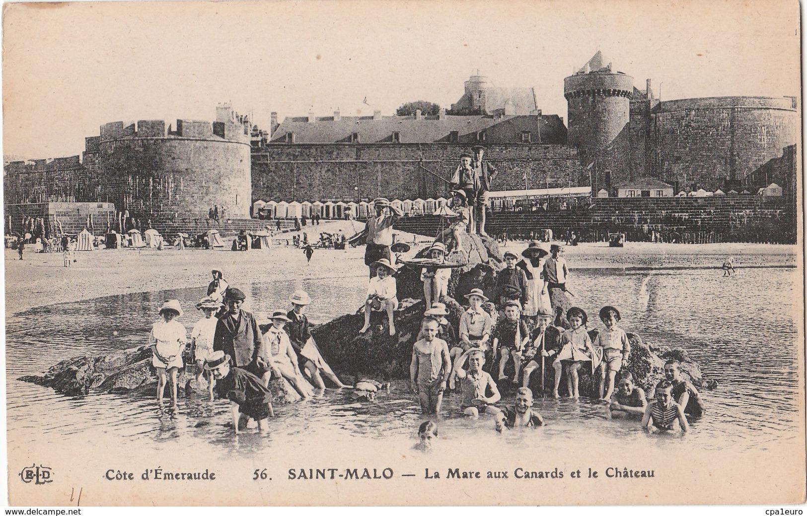 SAINT MALO   ( 35 ) La Mare Aux Canards Et Le Château - Saint Malo