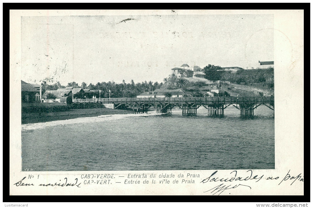 SANTIAGO - PRAIA - Vista Parcial Da Cidade Da Praia ( Nº 1)  Carte Postale - Cap Vert