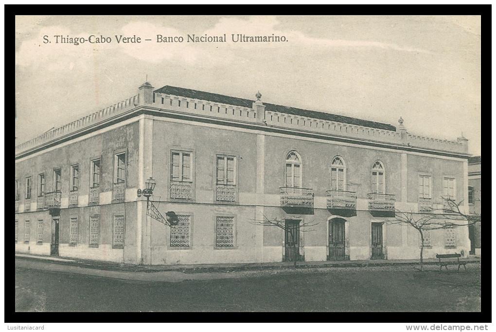 SANTIAGO - BANCOS - Banco Nacional Ultramarino    Carte Postale - Cap Vert