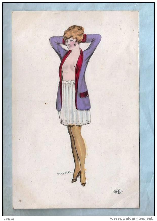 CPA - Illustration Légère (Maxfau) - Petite Femme En Tenue Légère - ELD - Illustrators & Photographers