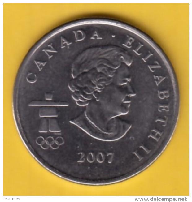 "CANADA - 2007 Circulating 25¢ Coin ""Biathlon"" (#2007-25-01) - Canada"