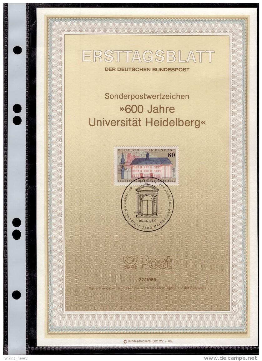 Heidelberg - ETB Ersttagsblatt 600 Jahre Universität Heidelberg 1986 - Heidelberg