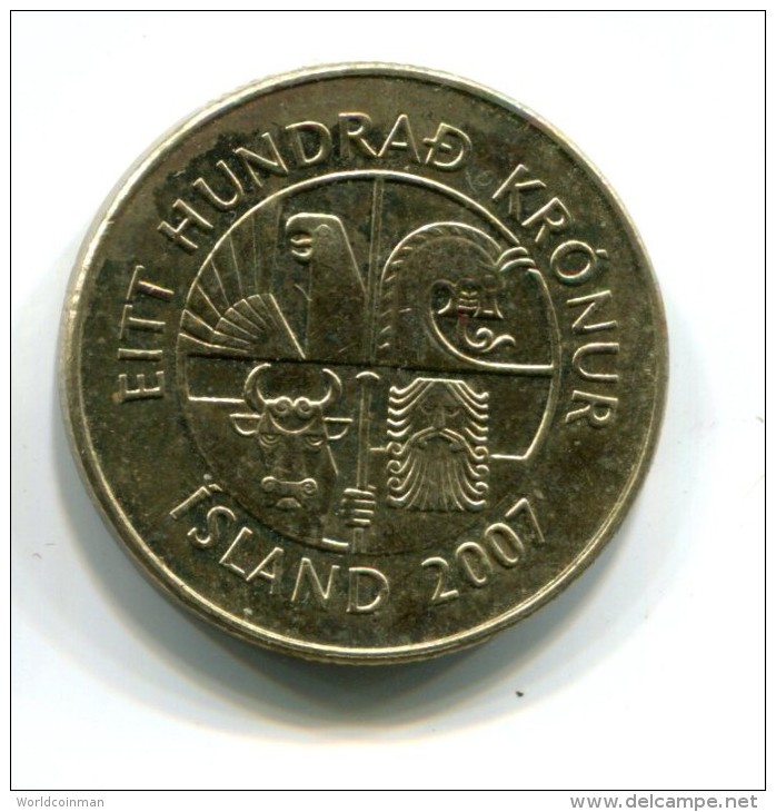 2007 Iceland 100 Kronur Coin - Iceland