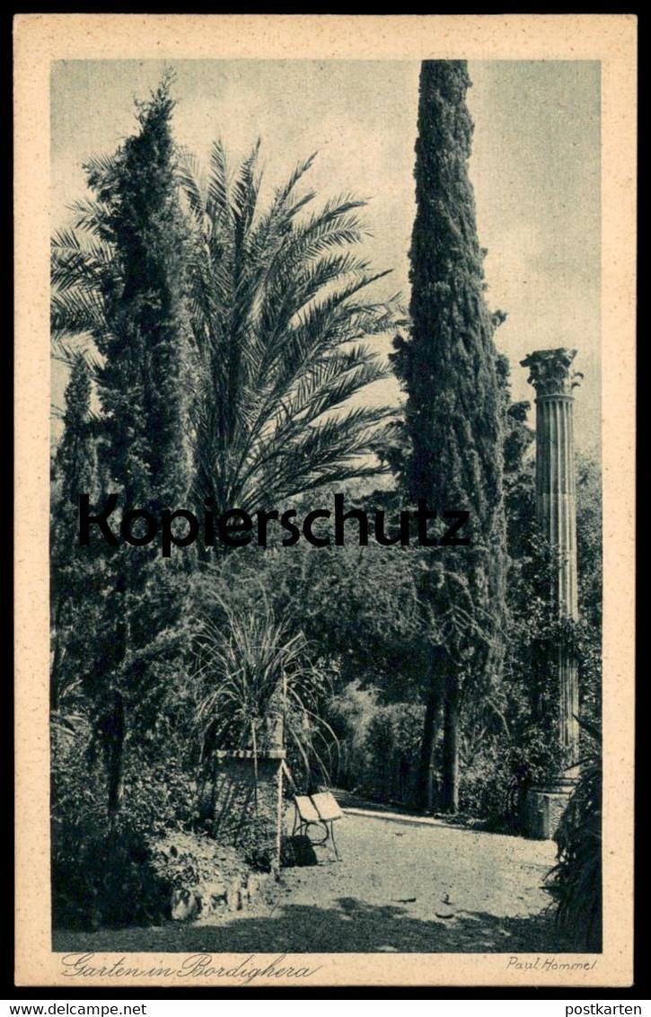 ALTE POSTKARTE GARTEN IN BORDIGHERA SEELCHENS REICH Paul Hommel cpa Ansichtskarte postcard AK