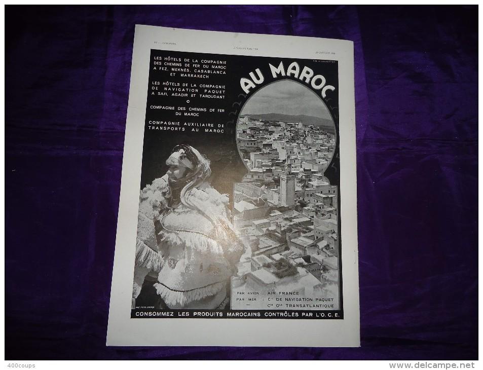 Pub De 1938 - TOURISME - MAROC - - Pubblicitari