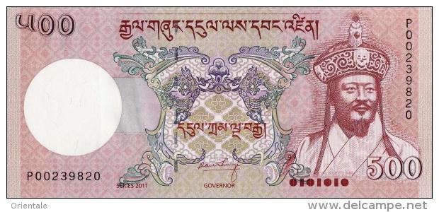 BHUTAN P. 33b 500 N 2011 UNC - Bhutan