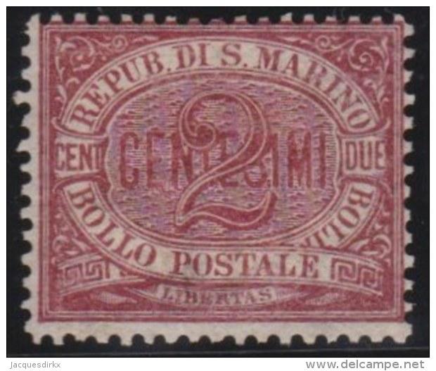 San  Marino     .   Yvert    .   26     .   *      .  Ongebruikt  Met Plakker   .  /   .   Mint-hinged - San Marino