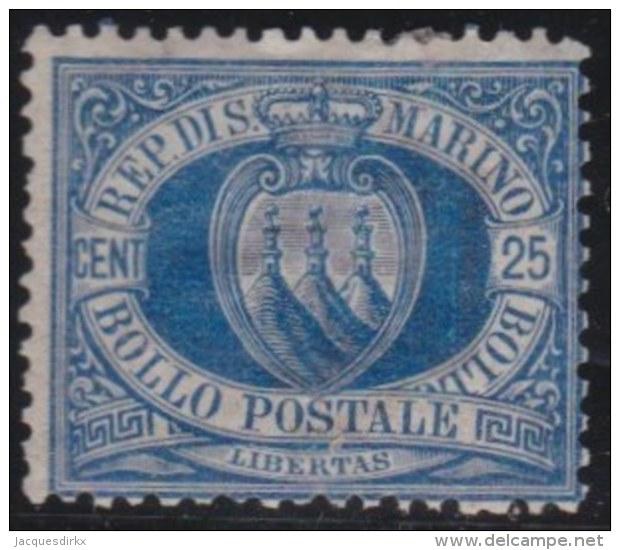 San  Marino     .   Yvert    .   30       .   *      .  Ongebruikt  Met Plakker   .  /   .   Mint-hinged - San Marino