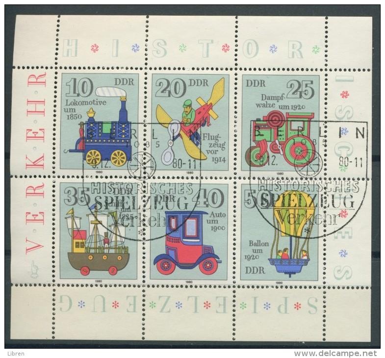 BL6-272 DDR, EAST GERMANY KLB MI 2566-2571 HISTORIC TOYS, KINDERSPIELZEUG. USED, OBLTERE, GEBRUIKT. - [6] Oost-Duitsland