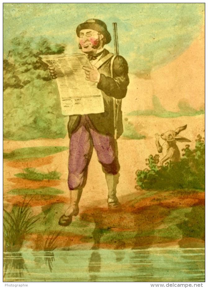 France Le Chasseur Caricature De Lavrate Ancienne Photo CDV Ségoffin 1860 - Photographs