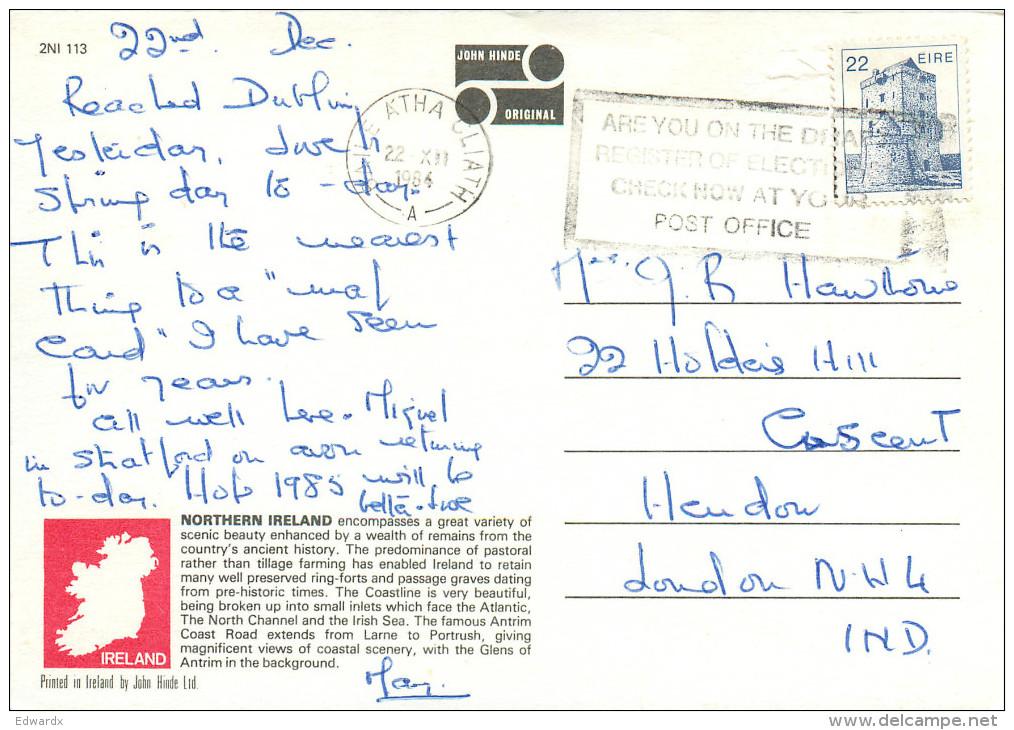 Multiview, Northern Ireland Postcard Posted 1984 Stamp - Irlande Du Nord