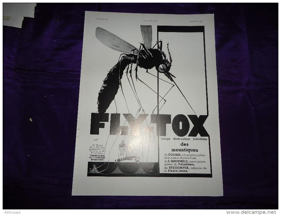 Pub De 1938 - FLY-TOX - - Advertising