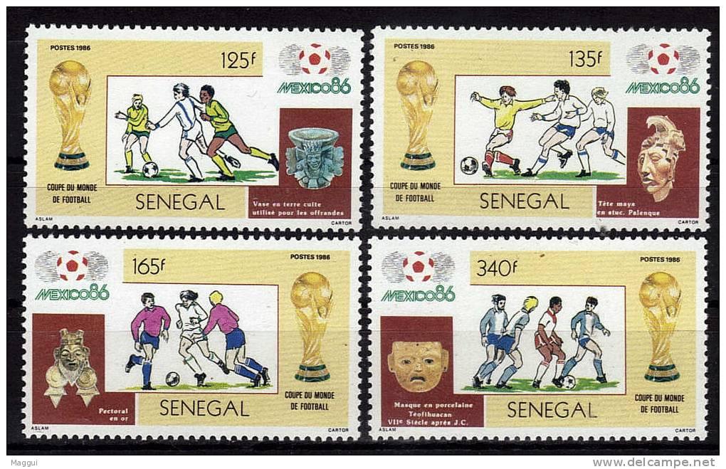 SENEGAL  N° 667/70  * *   Cup 1986  Football  Soccer Fussball - 1986 – Messico