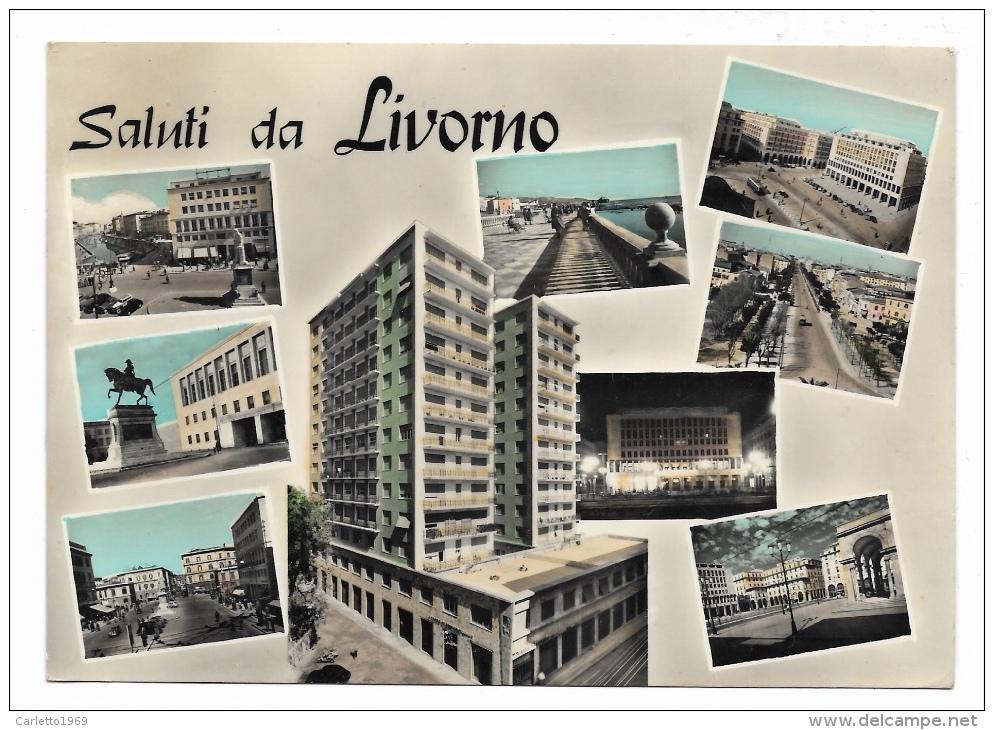 SALUTI DA LIVORNO VIAGGIATA FG - Livorno