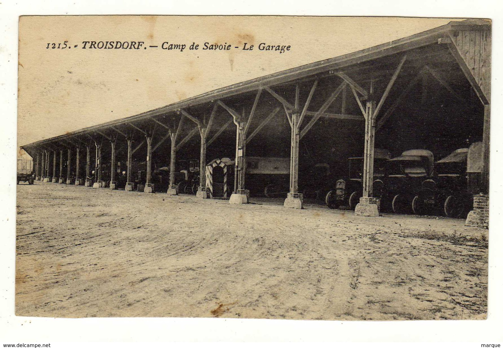 Cpa N° 1215 TROISDORF Camp De Savoie Le Garage - Troisdorf