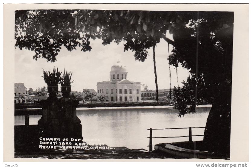 Brésil - Recife Pernambuco - Carte-Photo - Camara De Deputaçao - Recife