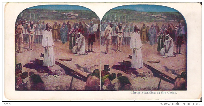 Christ Standing At The Cross. 18 - Stereoscope Cards