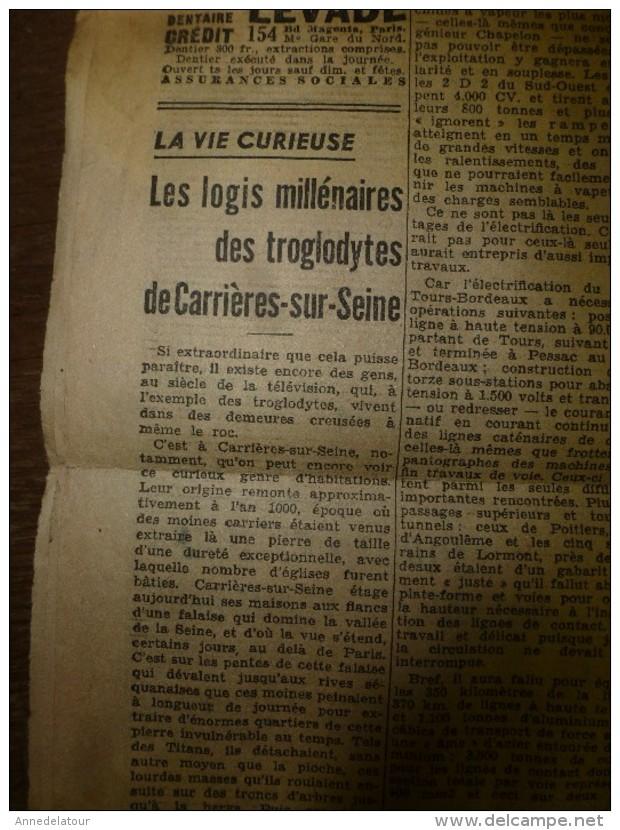 1938 LE PETIT PARISIEN:Brest-Recouvrance:marins,cols-bleus,mousses;louveteaux;Refuge VALLOT Mt-Blanc;Carrières-sur-Seine - Journaux - Quotidiens