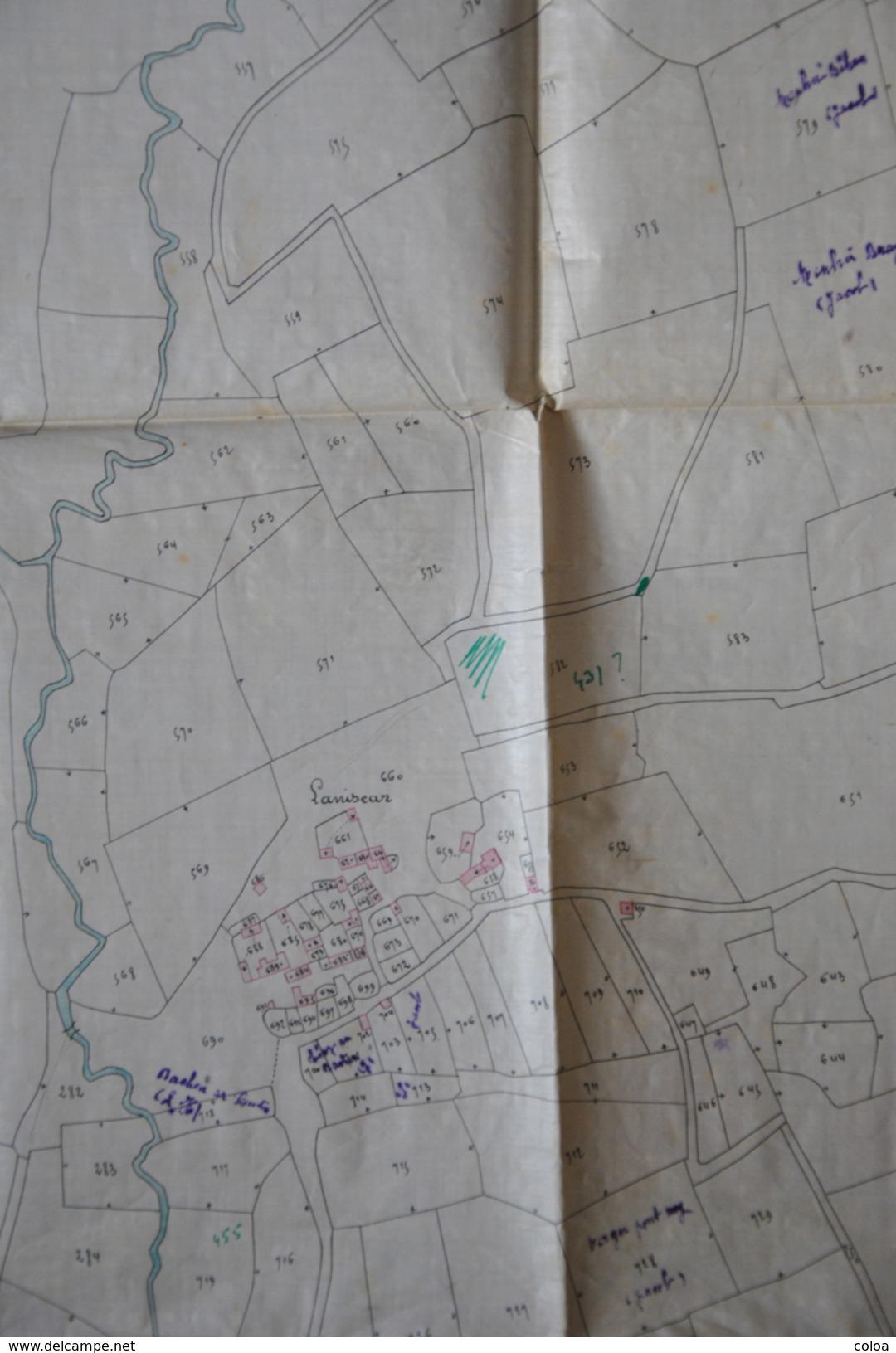 Extrait Du Plan Cadastral Napoléonien De RIEC Sur BELON , Quartier De Laniscar - Cartes Géographiques