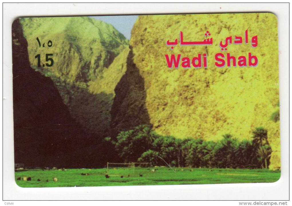 OMAN CARTE ALPHACARD WADI SHAB - Oman