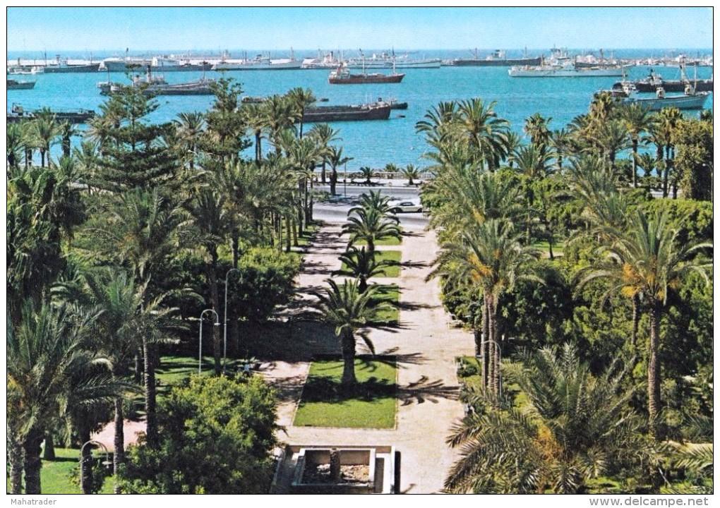 Libya - Tripoli - The Harbour Port - Seaside Park - Palm Trees - Mailed 1978 - Libia