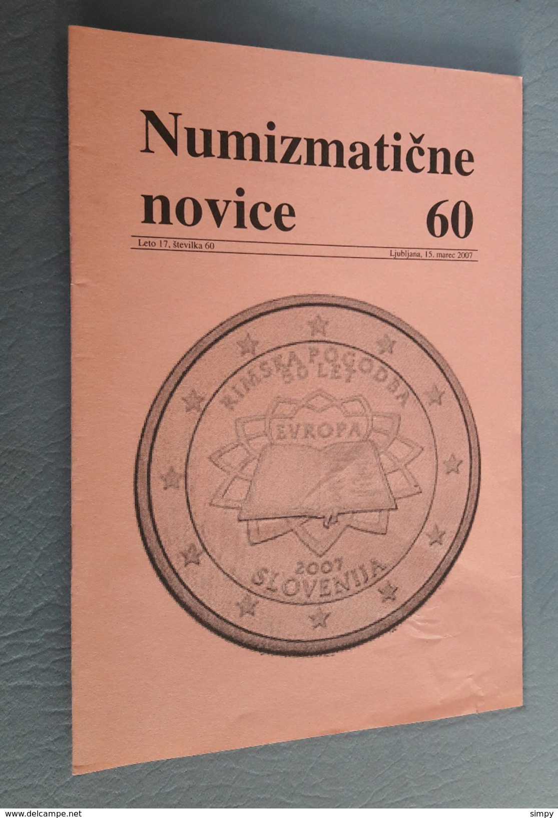 Slovenia Numismatic Bulletin Numizmaticne Novice 60 Ljubljana 2007 - Sonstige Sprachen