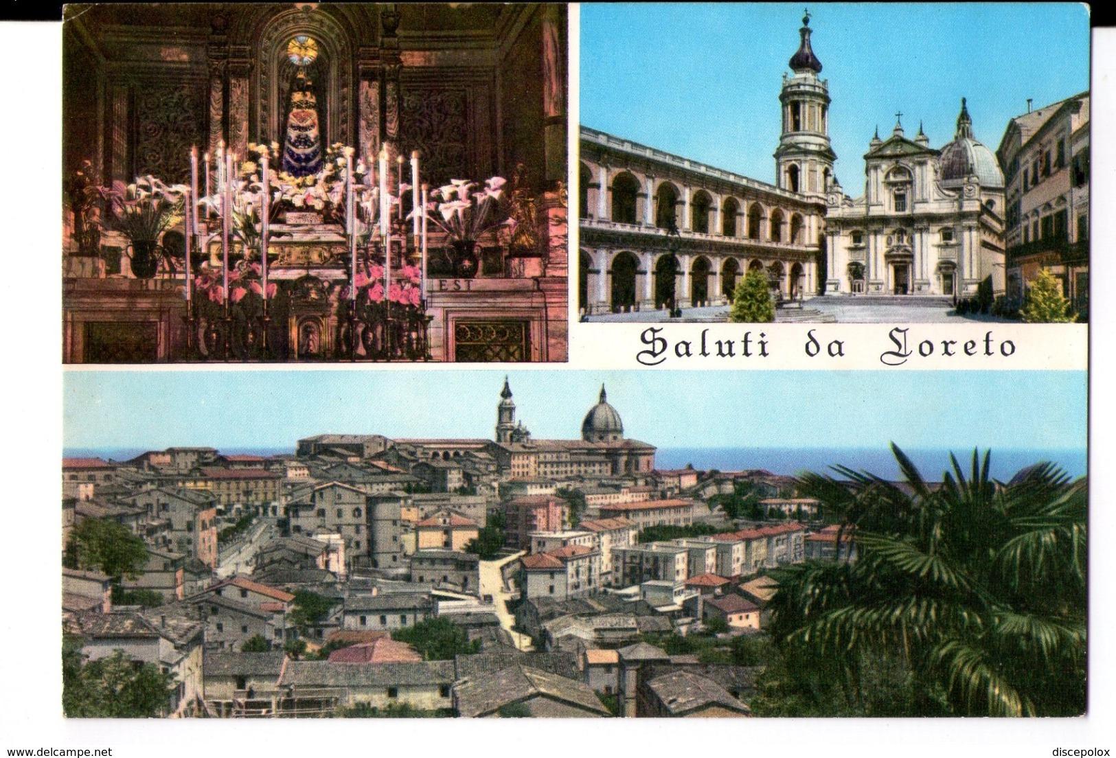 S782 Cartolina Concorso Invito All' Italia Serie L Rhodiatoce N. 022556 Loreto (Ancona) - Altre Città