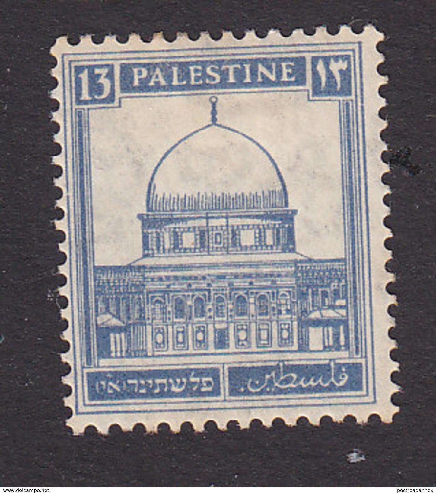 Palestine, Scott #74, Mint Hinged, Mosque Of Omar, Issued 1927 - Palestine