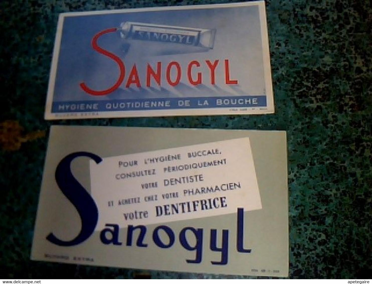 Buvard Ad  Publicitaire Dentifrice Sanogil - Buvards, Protège-cahiers Illustrés