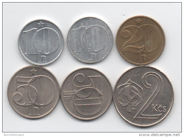 Tchécoslovaquie : Lot De 6 Pièces Différentes 1989-1991 - Czechoslovakia