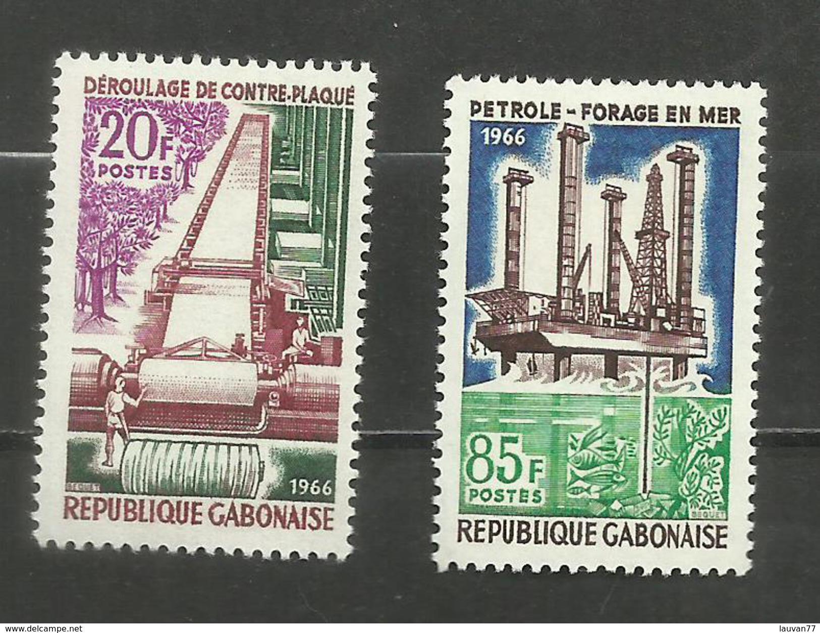Gabon N°196, 197 Neufs** Cote 3.90 Euros - Gabon
