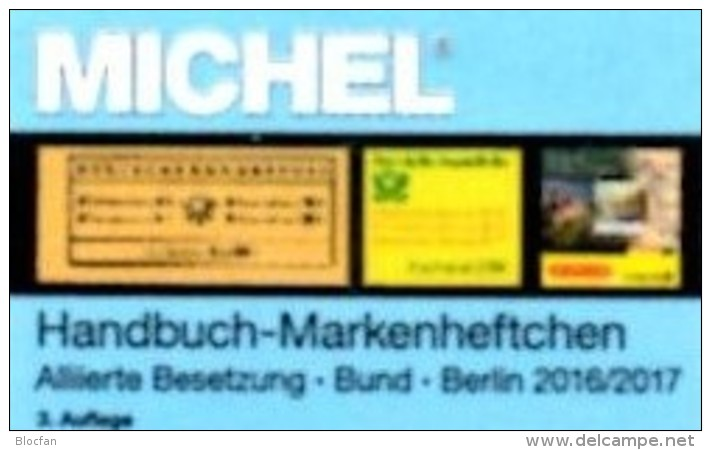 Michel Handbuch Markenhefte All.Post BRD Berlin 2017 Neu 98€ Handbook With Special Carnets Booklets Catalogue Of Germany - Material Und Zubehör