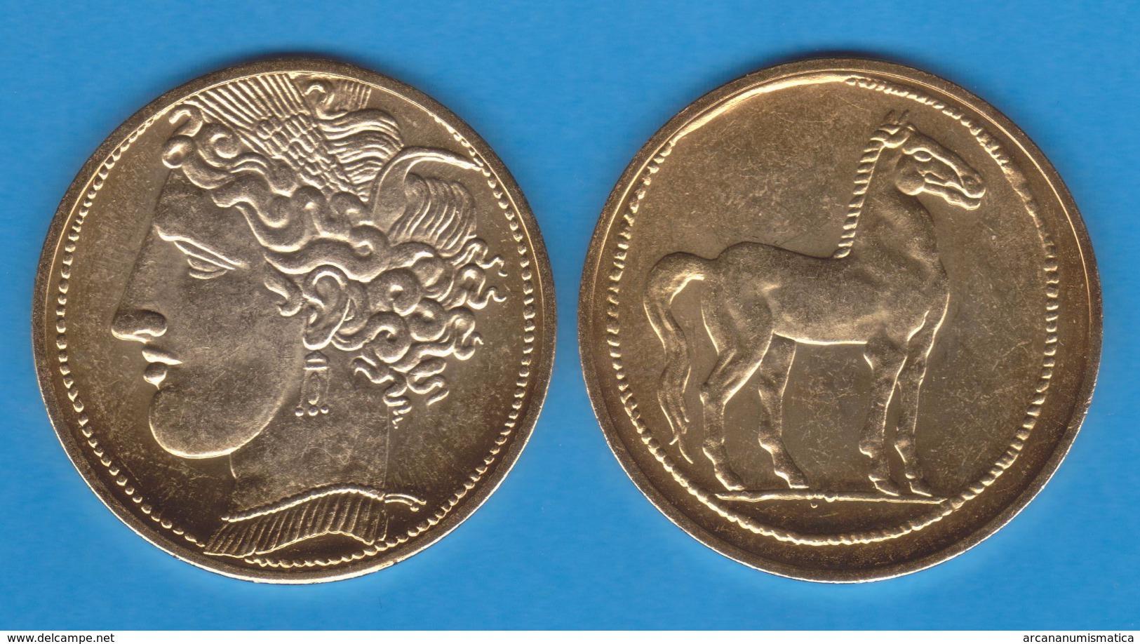 CARTAGONOVA  ESTATERA  Cartago Siglo IV A.C.  Oro  Réplica  DL-11.926 - Monedas Falsas