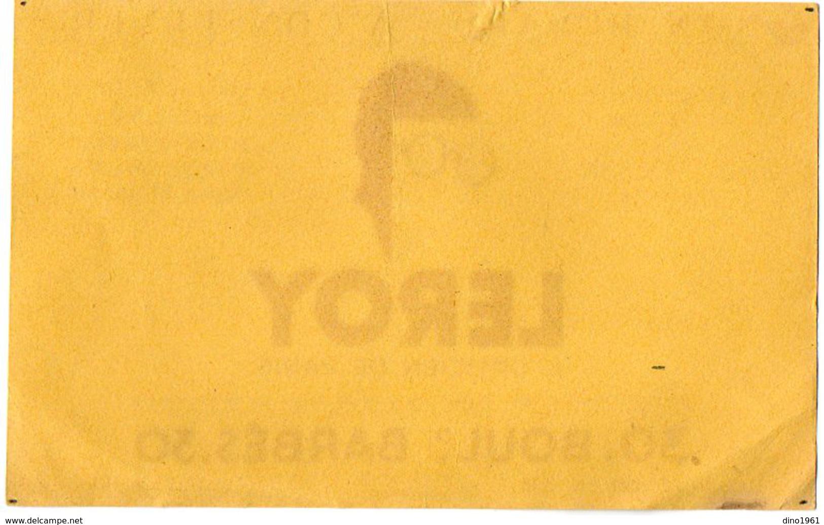 VP6281 - Buvard - LEROY 1er Opticien De PARIS Bd Barbes - Buvards, Protège-cahiers Illustrés