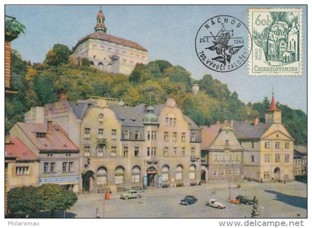 D26854 CARTE MAXIMUM CARD 1966 CZECHOSLOVAKIA - CITY OF NACHOD CP ORIGINAL - Architecture
