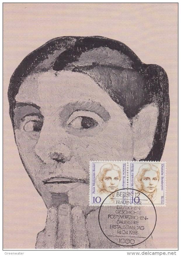 Berlin 1988 Paula Modersohn-Becker 2v On Maxicard (33559) - [5] Berlijn