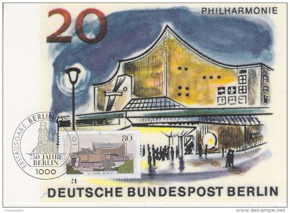 Berlin 1987 750J. Berlin 1v Maxicard (33573) - Maximum Kaarten