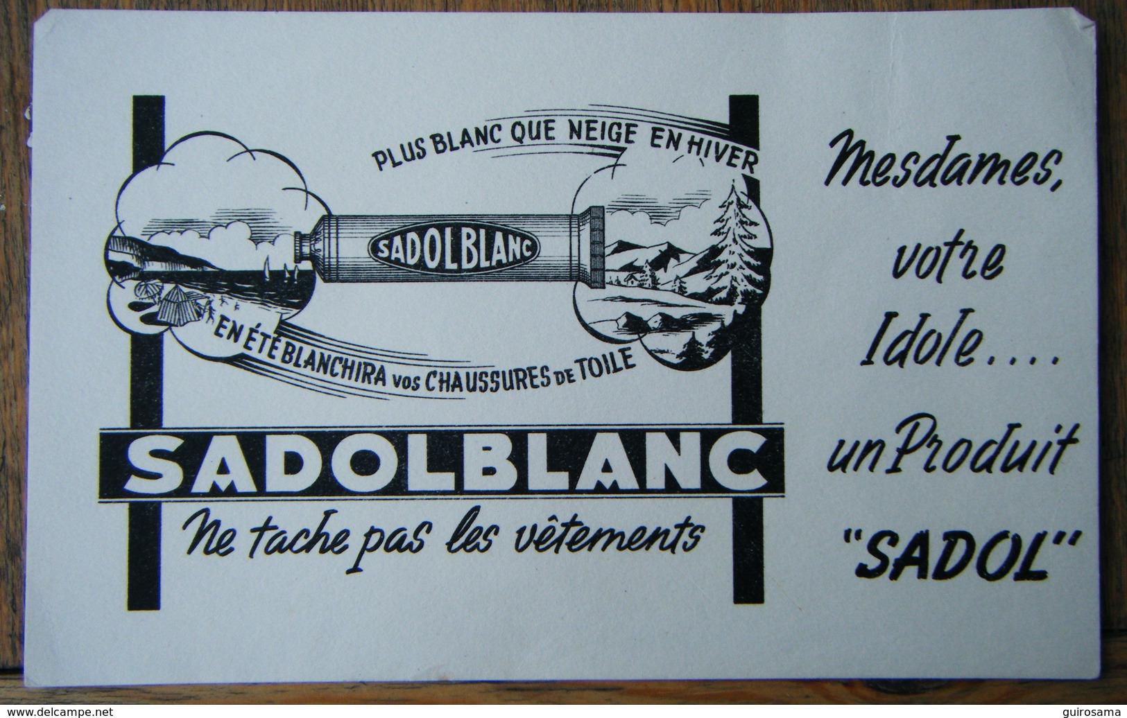 Buvard Sadolblanc (noir) - Buvards, Protège-cahiers Illustrés
