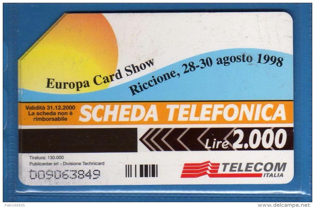 Telecom Italia °(3) -C&C 864 - £ 2.000 - RICCIONE 98 - Europa Card Show .  Usate  Vedi Descrizione. - Openbare Reclame