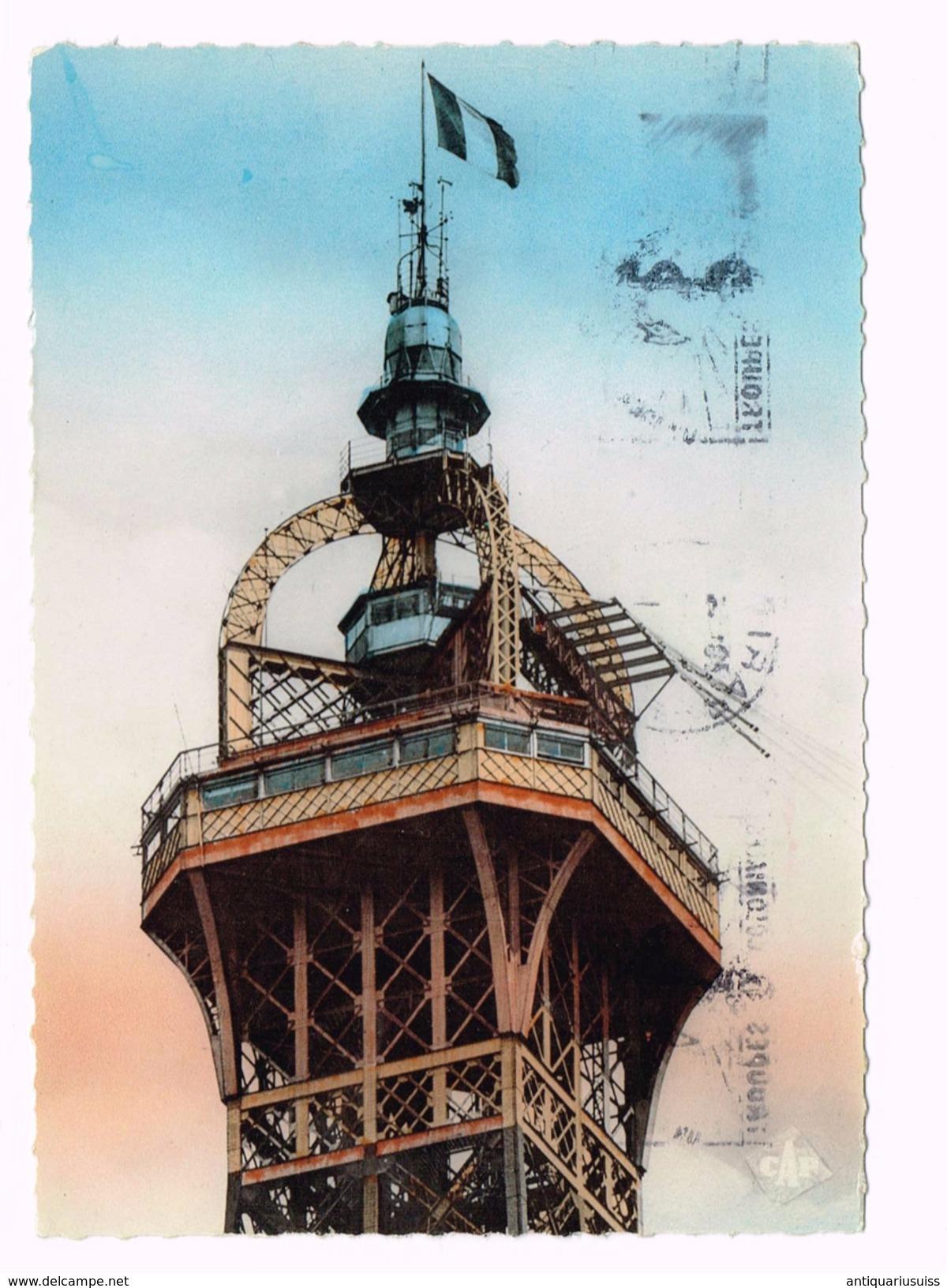 Paris - La Sommet De La Tour Eiffel - Special Timbre/Stamp - Bi Millenaire De Paris - Tour Eiffel