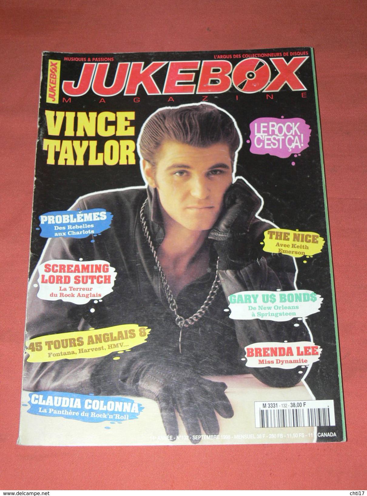JUKEBOX MAGAZINE / COTE  DISQUES VINYLES 1960 / SPECIAL ROCK ANGLAIS 45 TOURS 1954/62  VINCE TAYLORD / - Musique