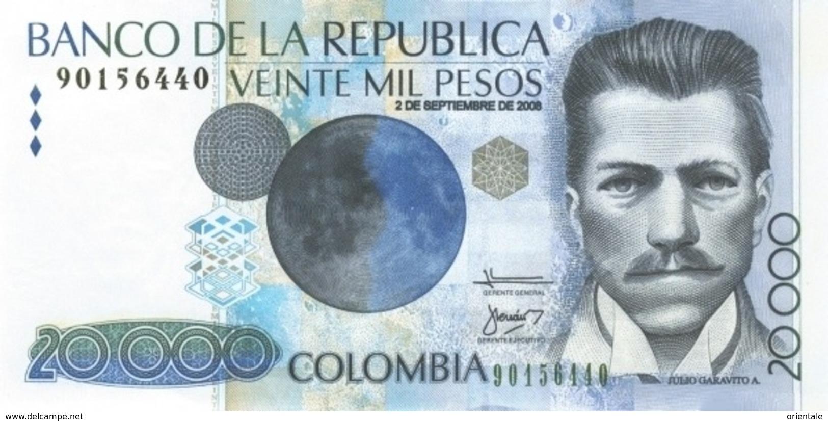 COLOMBIA P. 454q 20000 P 2008 UNC - Colombia