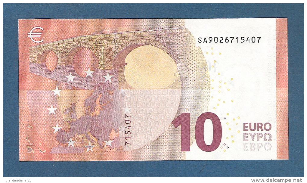 EURO - ITALIA - 2014 - BANCONOTA DA 10 EURO SERIE SA (S002I6) DRAGHI - NON CIRCOLATA (FDS-UNC) - IN OTTIME CONDIZIONI. - EURO