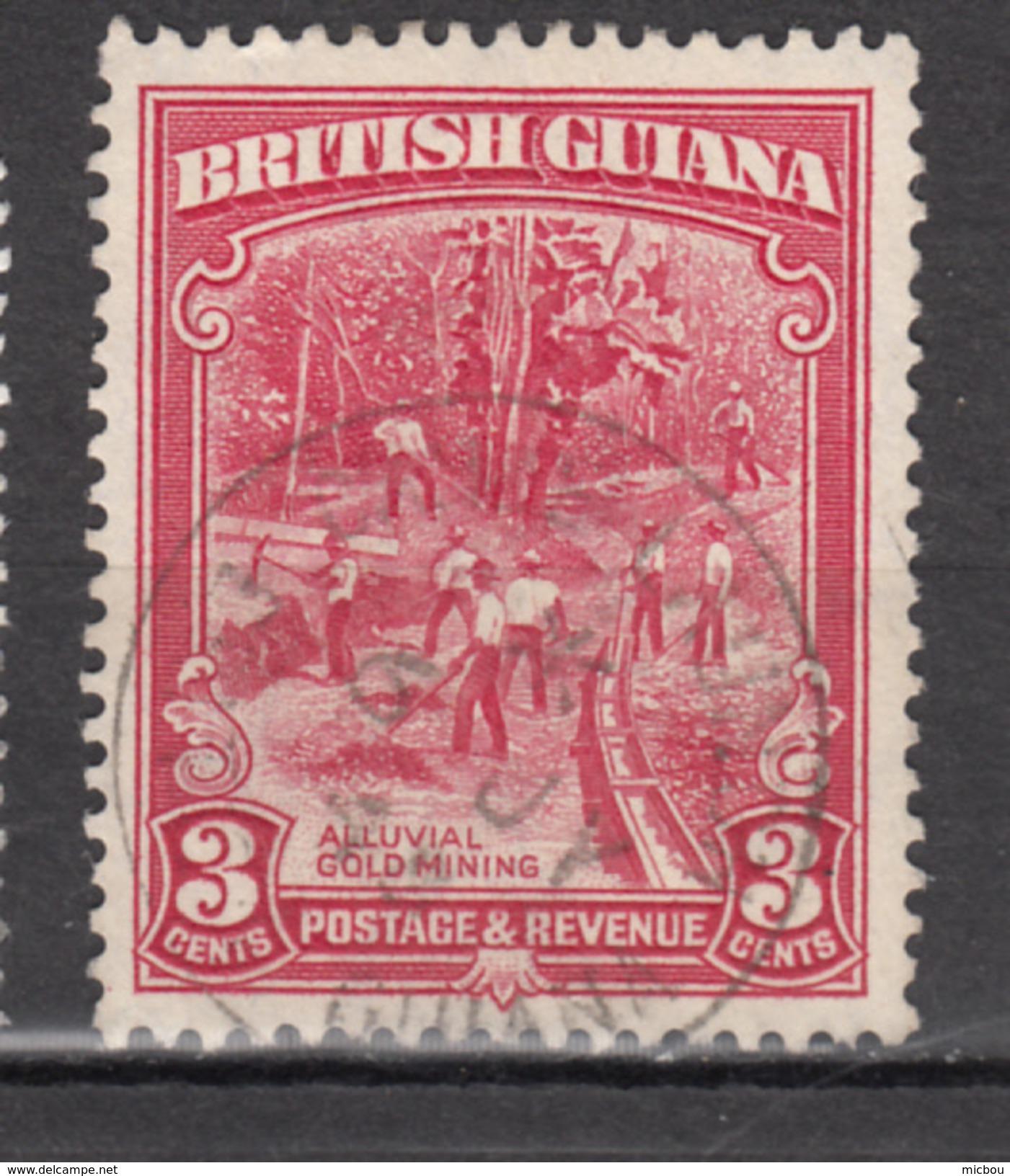 British Guiana, Mine D'or, Gold Mine, Minéraux, Minerals, Mineur - Minerals