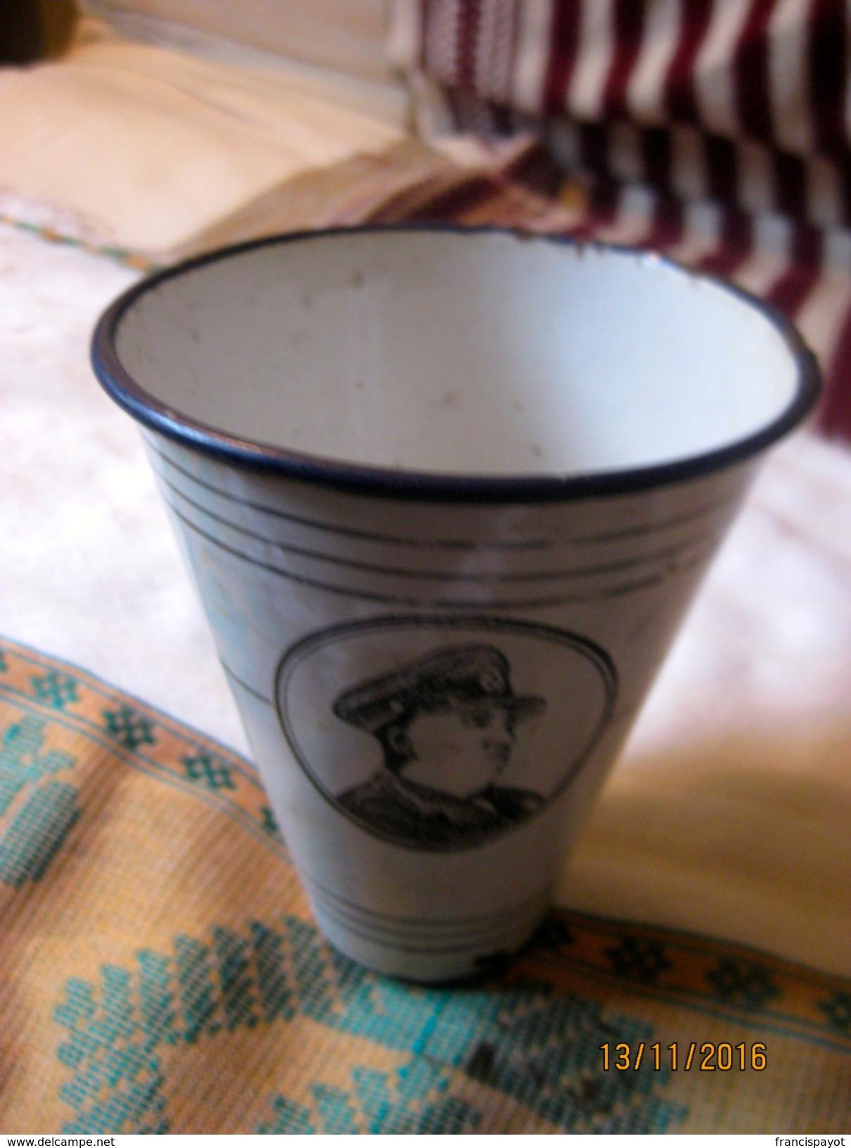 Ethiopia: Gobelet à Bière émaillé / Beer Tumbler - Cannettes