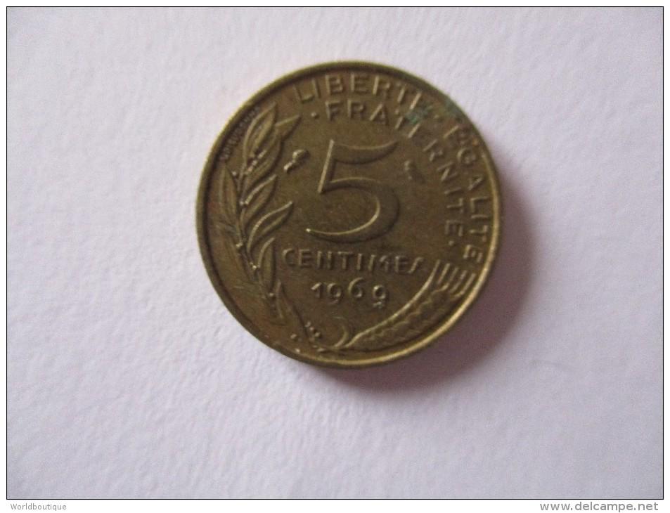 Piece 5 Centimes France 1969 ( R / V ) - France