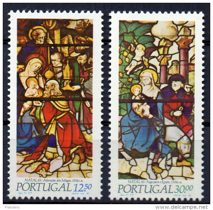 PIA - PORTOGALLO - 1983 : Natale -  (Yv  1594-95) - Vetri & Vetrate