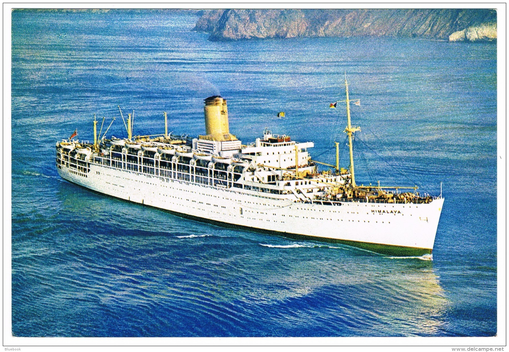 RB 1128 - P & O Ship Postcard - Himalaya - Shipping Maritime Theme - Paquebote