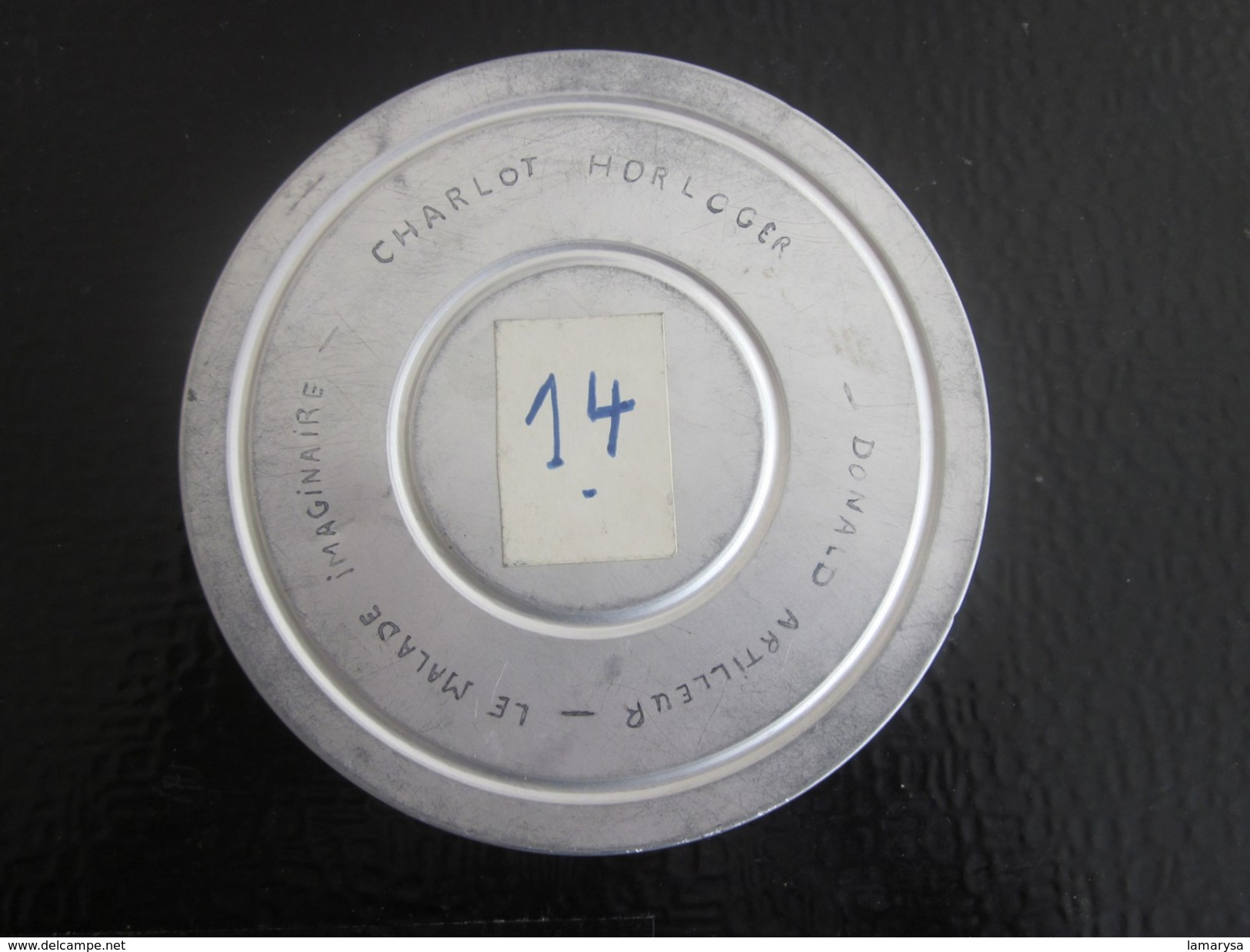 1957 BOBINE  FILM KODAK 8 Mm 1-CHARLIE CHAPLIN CHARLOT HORLOGER-2-LE MALADE IMAGINAIRE-3-DONALD ARTILLEUR-DISNEY VINTAGE - Bobines De Films: 35mm - 16mm - 9,5+8+S8mm